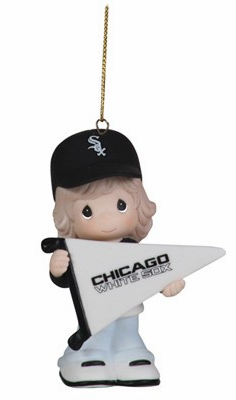 Chicago White Sox My Team's A Home Run Baseball Girl Retired Ornament by Precious Moments<br>ONLY 4 LEFT!