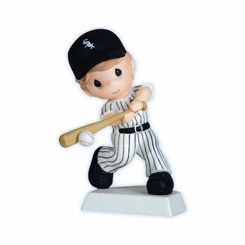 Chicago White Sox Swing For The Fence Boy Swinging Retired Baseball Figurine by Precious Moments<br>ONLY 1 LEFT!