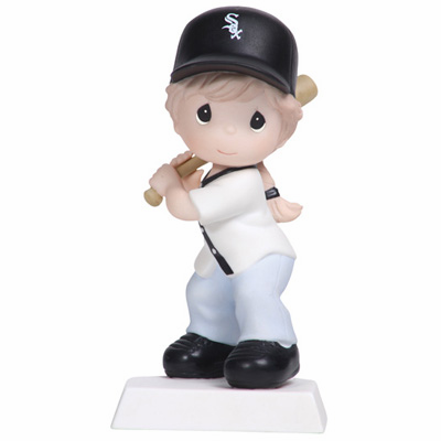 Chicago White Sox Swing For The Fence Girl Batting Retired Baseball Figurine by Precious Moments<br>ONLY 3 LEFT!