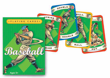 Children's Baseball Playing Cards