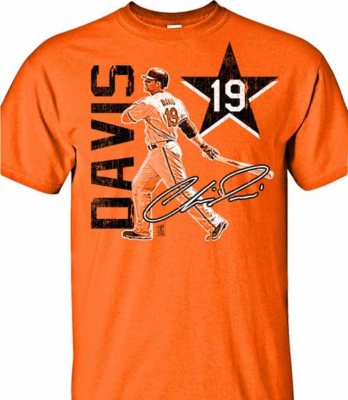 Chris Davis Big Star T-Shirt<br>Short or Long Sleeve<br>Youth Med to Adult 4X
