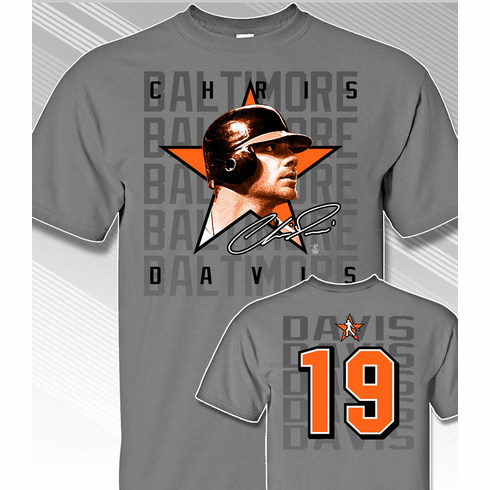 Chris Davis Star Power T-Shirt<br>Short or Long Sleeve<br>Youth Med to Adult 4X