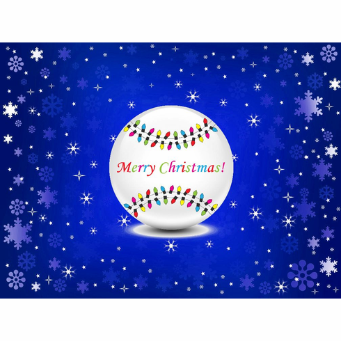 Christmas Lights Baseball Christmas Cards<br>PERSONALIZED FREE IF YOU BUY 5+ PACKS!