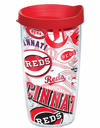 Cincinnati Reds All Over Wrap Set of Cups with Lids by Tervis