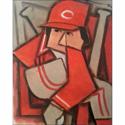 Cincinnati Reds Original Baseball Painting by Tommervik