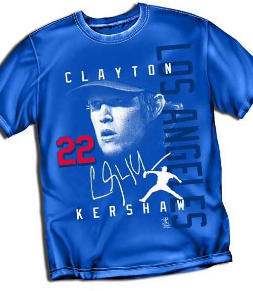 Clayton Kershaw LOS ANGELES Signature T-Shirt<br>Short or Long Sleeve<br>Youth Med to Adult 4X