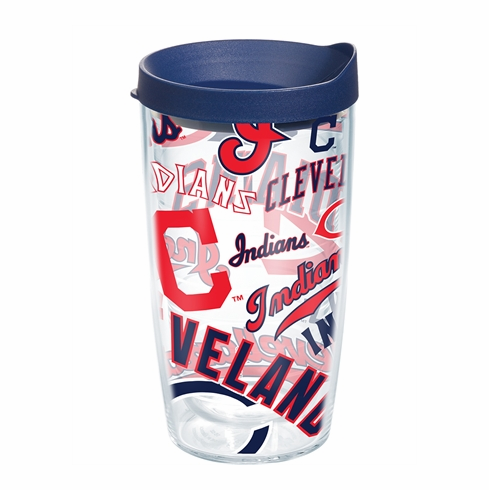 Cleveland Indians All Over Wrap Set of Cups with Lids by Tervis