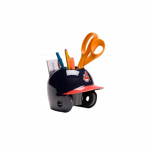 Cleveland Indians Baseball Helmet Desk Caddy<br>2 HELMET OPTIONS!
