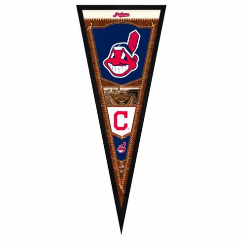 Cleveland Indians Framed Pennant Sign