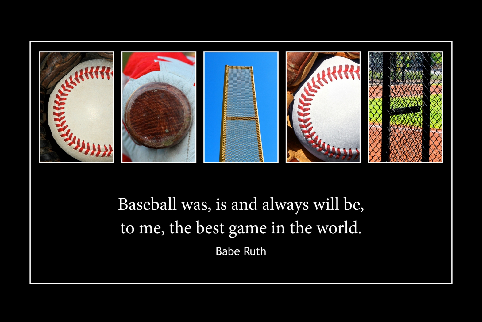 COACH Wood Plaque<br>Baseball Letter Art<br>Babe Ruth Quote