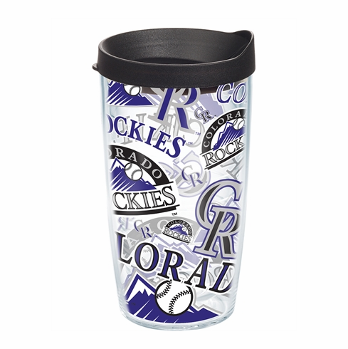 Colorado Rockies All Over Wrap Set of Cups with Lids by Tervis