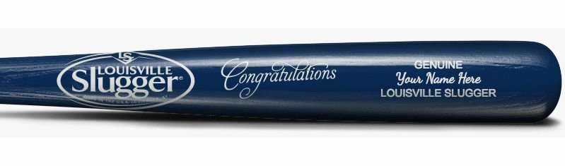 "Congratulations Personalized 34"" Souvenir Gift Louisville Slugger Wood Bat<br>CHOOSE YOUR COLORS!"