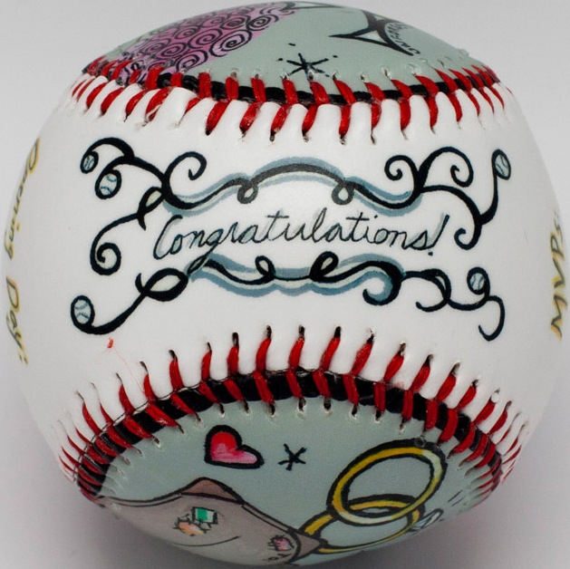 Congratulations Wedding Baseball<br>ONLY 2 LEFT!