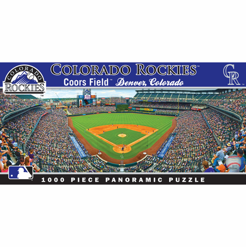 Coors Field Colorado Rockies 1000pc Panoramic Puzzle<br>ONLY 2 LEFT!