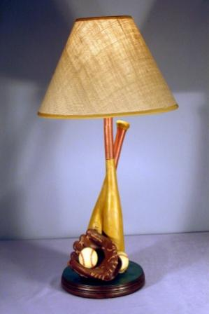 Crossed Bats Baseball Lamp<br>ONLY 3 LEFT!