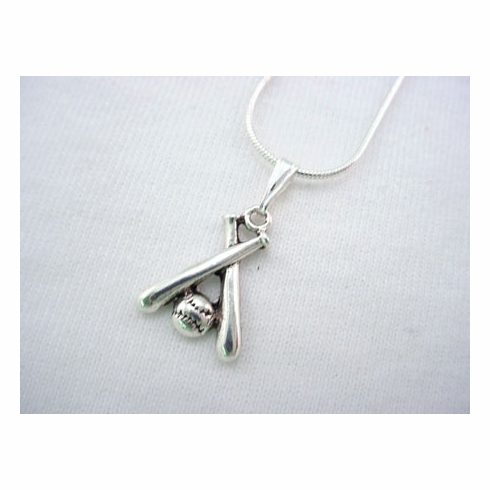 Crossed Bats Necklace