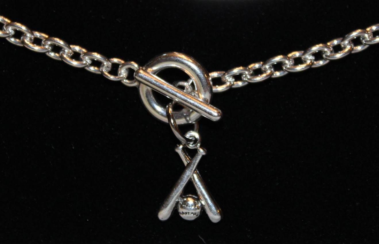 Crossed Bats Toggle Bracelet