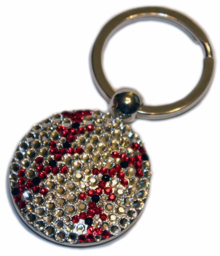 Crystal Baseball Key Chain<br>ONLY 1 LEFT!