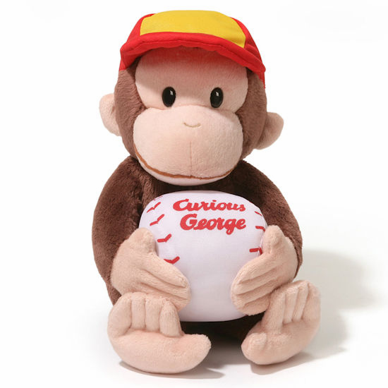 Curious George Baseball Plush Toy