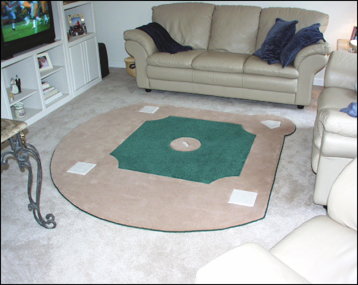 Custom Baseball Field Rug Br Back