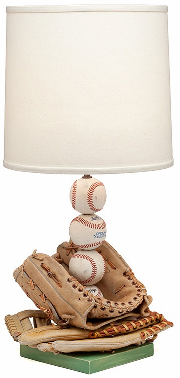 Custom Baseball Glove Stacked Baseballs Lamp