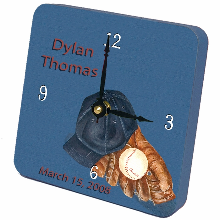 Custom Baseball Tiny Times Clock