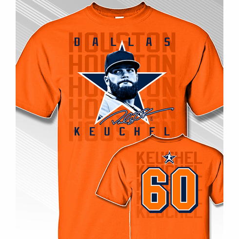 Dallas Keuchel Star Power T-Shirt<br>Short or Long Sleeve<br>Youth Med to Adult 4X