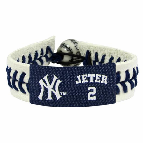 Derek Jeter 2 with Yankees Logo Baseball Seam Bracelet