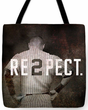 Derek Jeter RE2PECT New York Yankees Tote Bag<br>3 SIZES AVAILABLE!