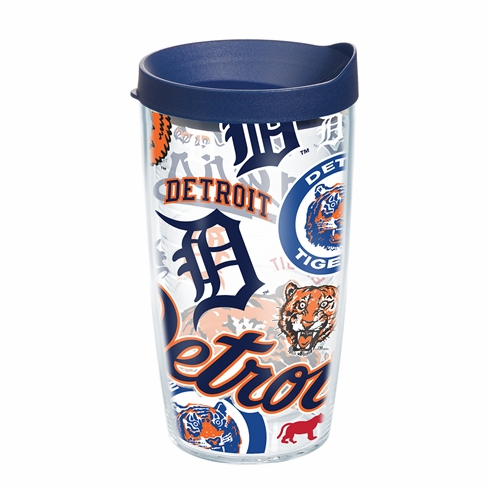 Detroit Tigers All Over Wrap Set of Cups with Lids by Tervis