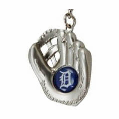 Detroit Tigers Sculpted Baseball Glove Key Chain<br>ONLY 6 LEFT!