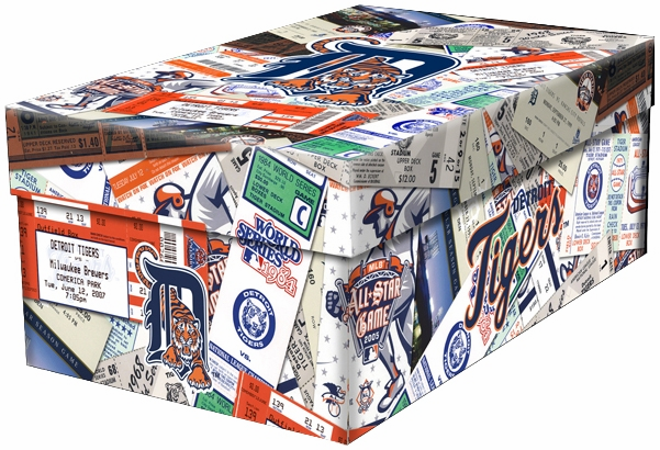 Detroit Tigers Souvenir Ticket Photo Box<br>ONLY 5 LEFT!