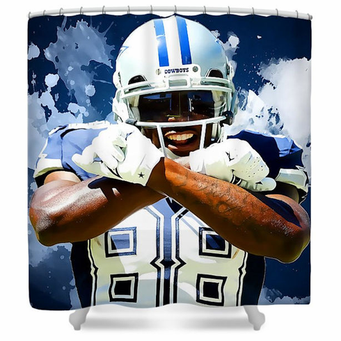 Dez Bryant Dallas Cowboys Shower Curtain
