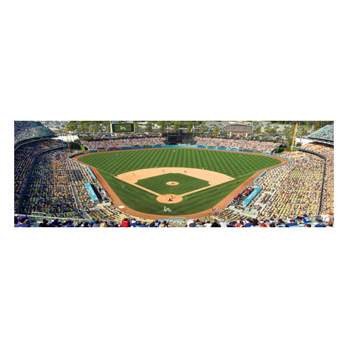 Dodger Stadium Los Angeles Dodgers 1000pc Panoramic Puzzle<br>ONLY 5 LEFT!