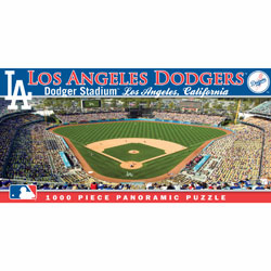 Dodger Stadium Los Angeles Dodgers 1000pc Panoramic Puzzle<br>ONLY 6 LEFT!