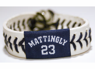 Don Mattingly 23<br>Baseball Seam Bracelet