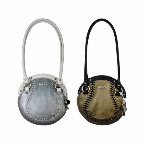 WEEKLY SPECIAL #5<br>Double Play Leather Baseball Purse<br>SILVER or GOLD!
