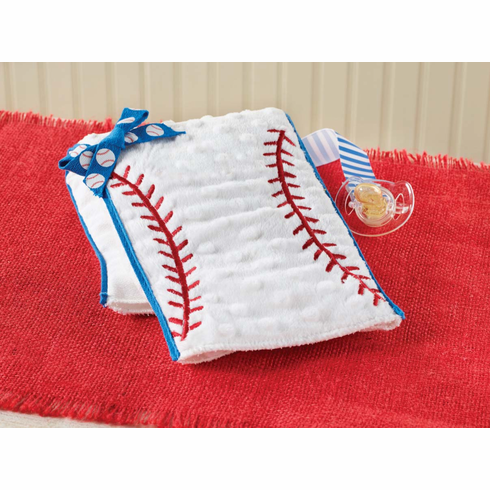 Embroidered Baseball Burp Cloth