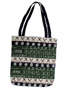 END OF SUMMER SPECIAL<br>Baseball Scoreboard Afghan Tote Bag