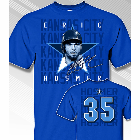 Eric Hosmer Star Power T-Shirt<br>Short or Long Sleeve<br>Youth Med to Adult 4X