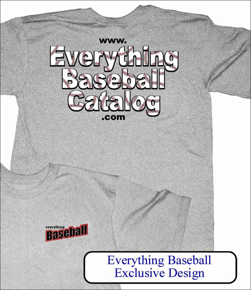Everything Baseball Catalog Adult Medium Gray T-Shirt