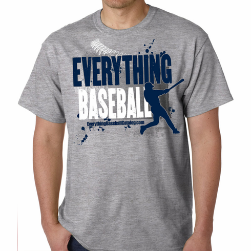 Everything Baseball Gray T-Shirt<br>Youth Med to Adult 4X