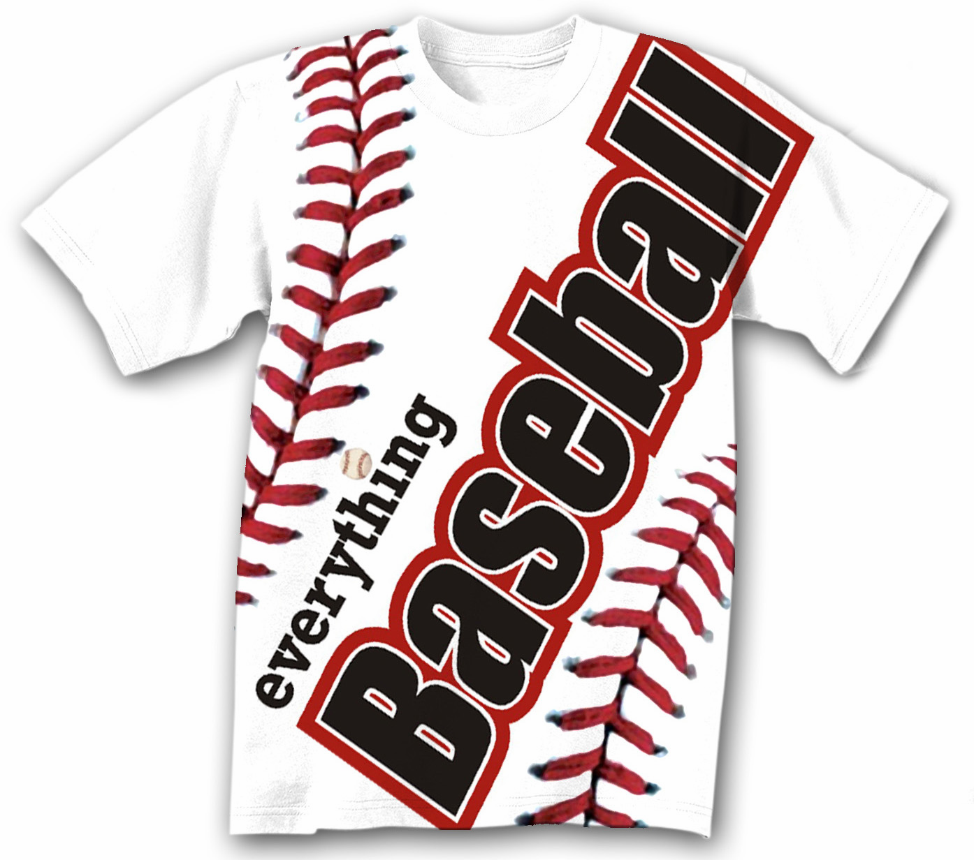 Everything Baseball Sublimated T-Shirt<br>Youth Med to Adult 2X