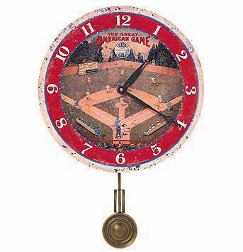 "Field of Dreams Baseball 13"" Wall Clock<br>ONLY 2 LEFT!"