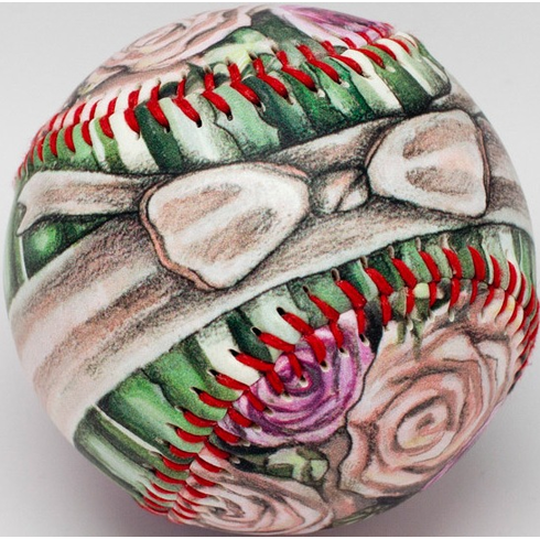 Flower Bouquet of Roses Baseball
