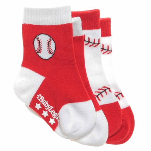 Fly Ball Baseball Socks 2-pack