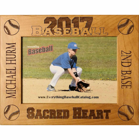 Four Baseballs Personalized Photo Frame<br>3 SIZES!