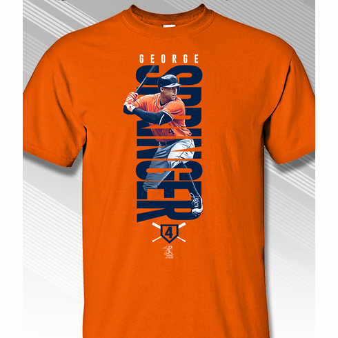 George Springer In His Name T-Shirt<br>Short or Long Sleeve<br>Youth Med to Adult 4X
