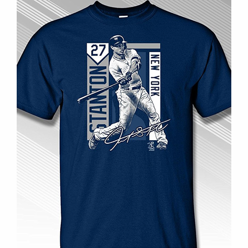 Giancarlo Stanton New York Colorblock T-Shirt<br>Short or Long Sleeve<br>Youth Med to Adult 4X