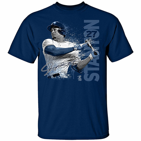 Giancarlo Stanton New York Paint Splash T-Shirt<br>Short or Long Sleeve<br>Youth Med to Adult 4X